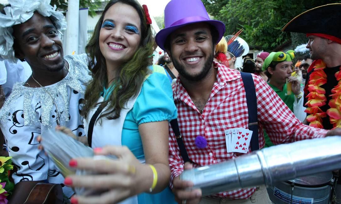Sorriso para todos os lados em Santa Teresa! Agência O Globo / Ana Branco
