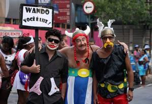 Wando, Asterix e Obelix: criatividade de sobra na mesma família. Foto: Guilherme Leporace / O Globo