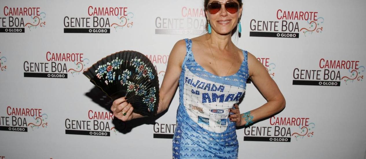 Christiane Torloni esbanjou boa forma na festa de seus 55 anos na Feijoada do Amaral Foto: Marcos Ramos / Agência O Globo