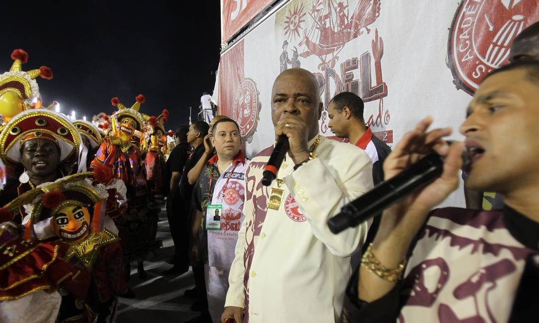 Quinho, o intérprete do enredo do Salgueiro Alexandre Cassiano / O Globo