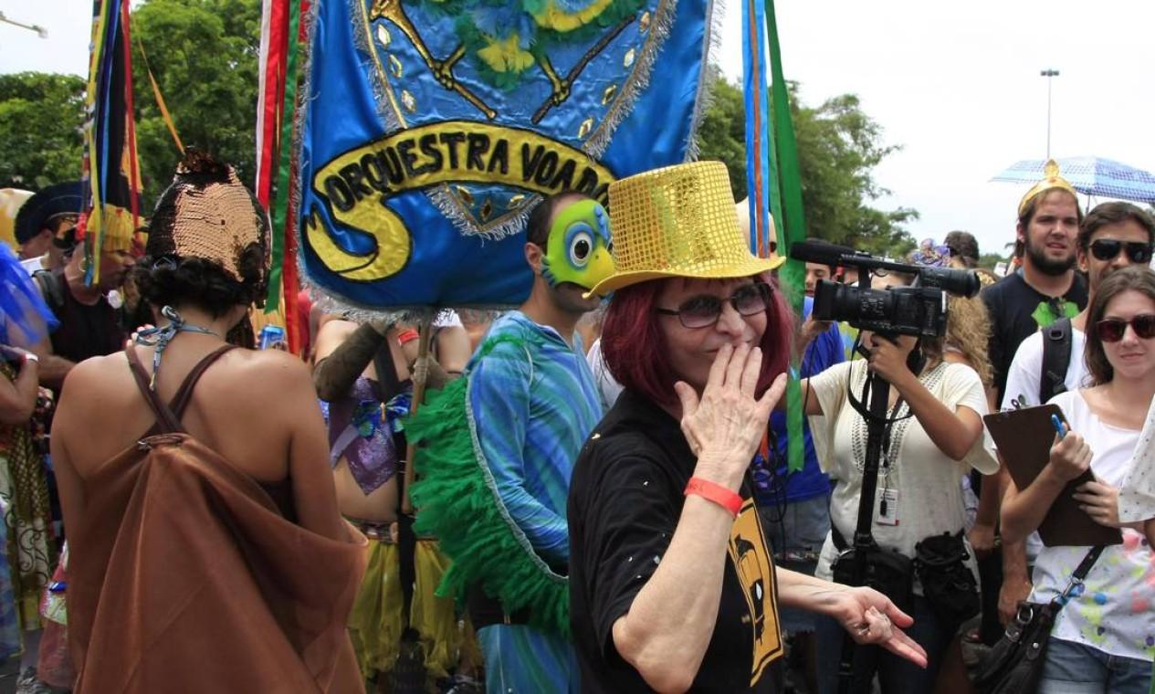 Cover da cantora Rita Lee chamou atenção durante o desfile Foto: Agência O Globo / Luiz Ackermann