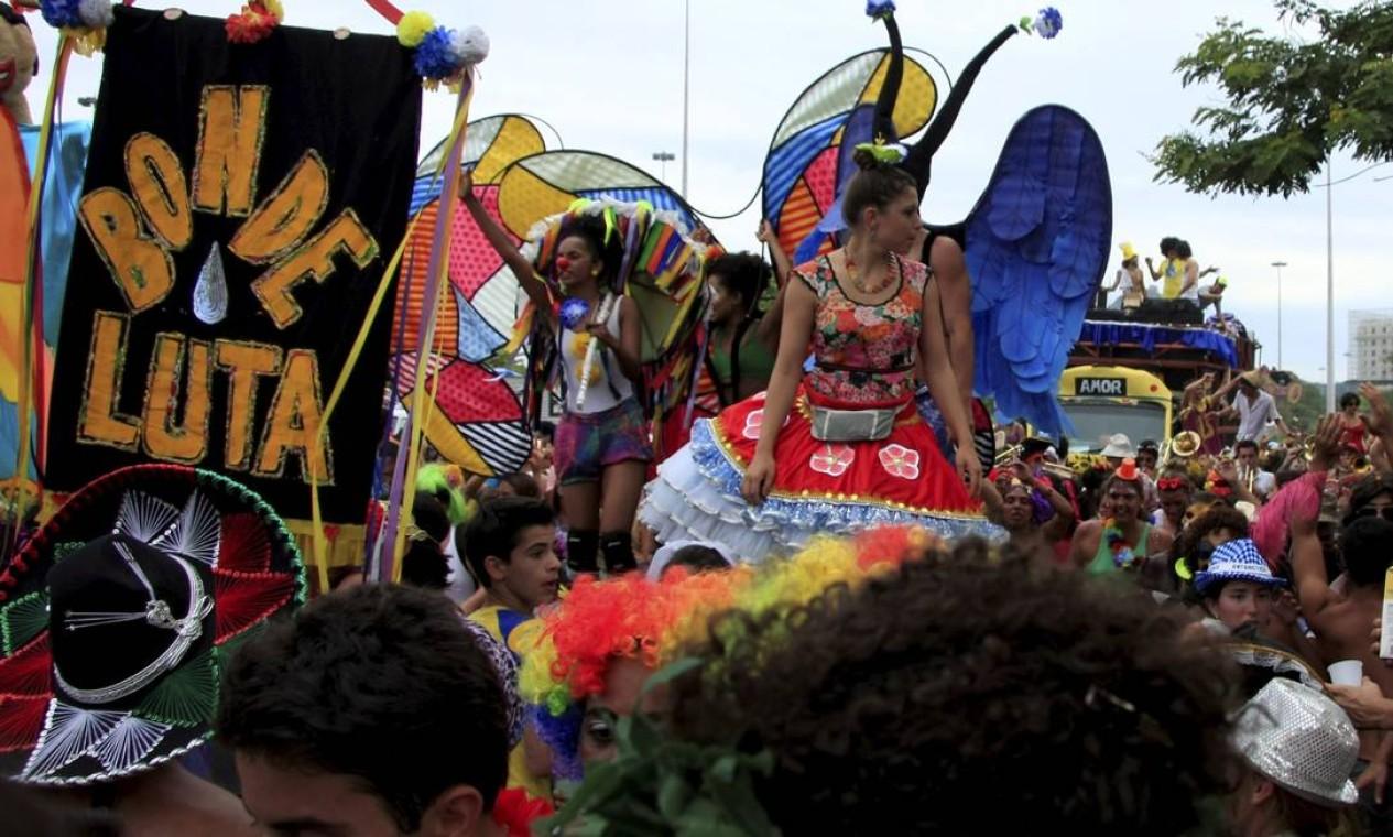Homenagem ao bondinho de Santa Teresa Foto: Agência O Globo / Luiz Ackermann