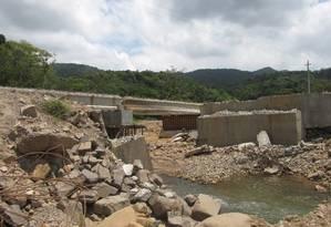 Destroços da ponte que havia sido reconstruída em 2010 Foto: Foto de Juraci Perboni