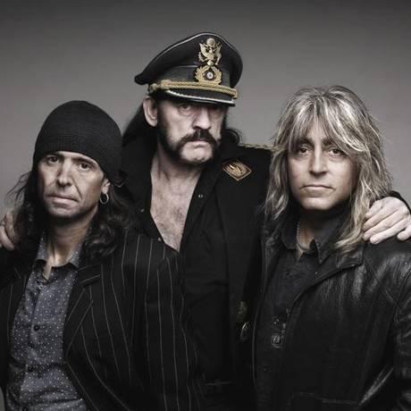 A banda britânica Motörhead, liderada por Lemmy Killmister (centro) Foto: Divulgação