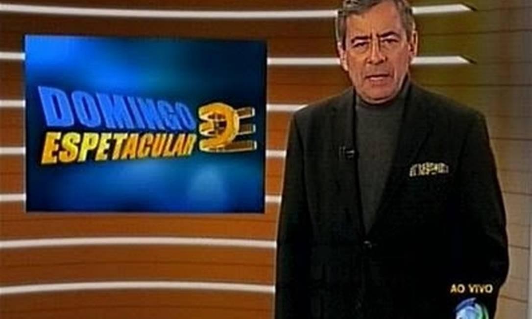 Jornalista da TV Record Foto: Reprodução