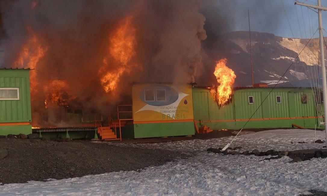 Dois militares morreram no acidente na Estação Antártica Comandante Ferraz (EACF). Foto: Site Informador Chile