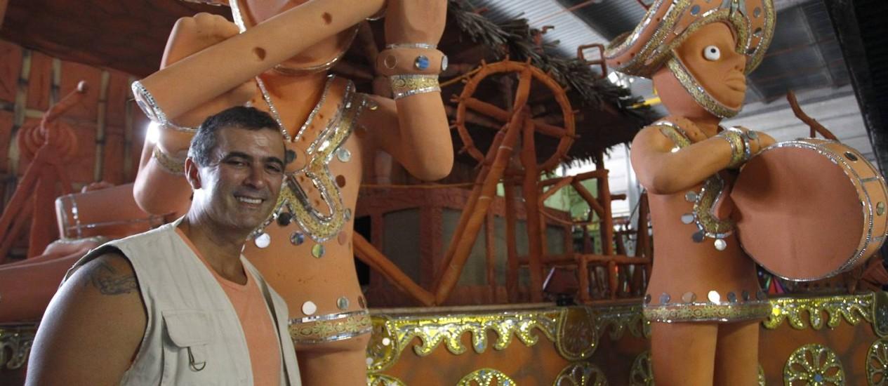 PAULO BARROS: 'Sempre vou fazer o carnaval pautado em dar susto em quem está vendo o desfile' Foto: Pablo Jacob / Agência O Globo