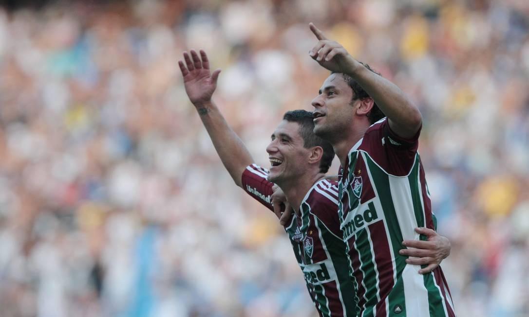 Thiago Neves e Fred, nomes importantes na decisão Foto: Bruno Gonzalez