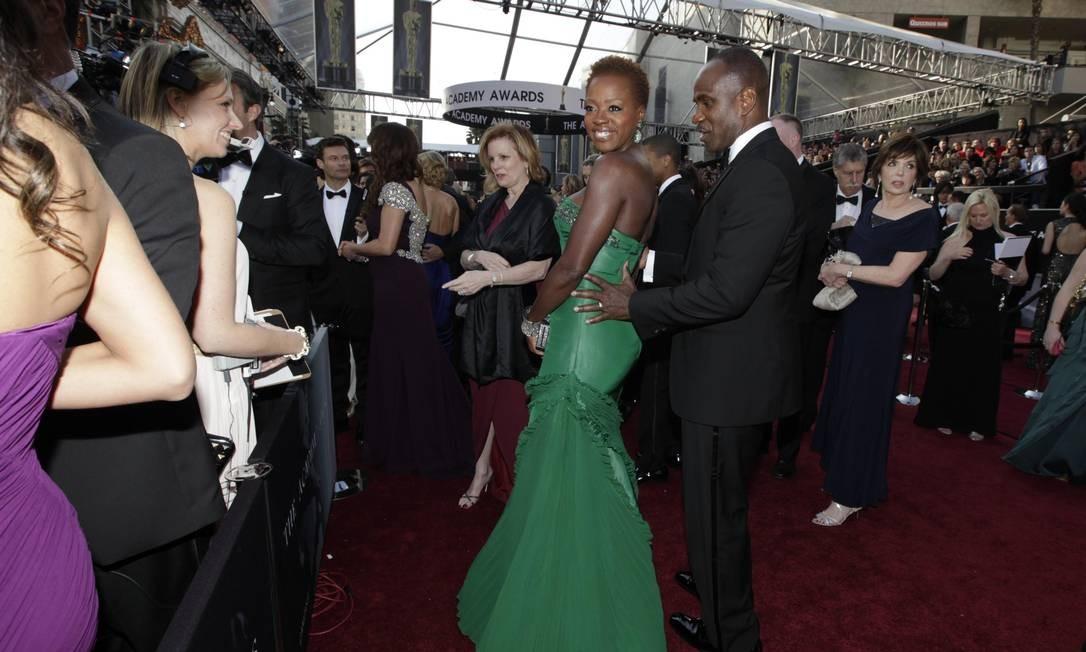 Viola Davis é a principal concorrente de Meryl Streep na briga pelo posto de melhor atriz, com o filme 'Histórias Cruzadas' Foto: Reuters/Divulgação