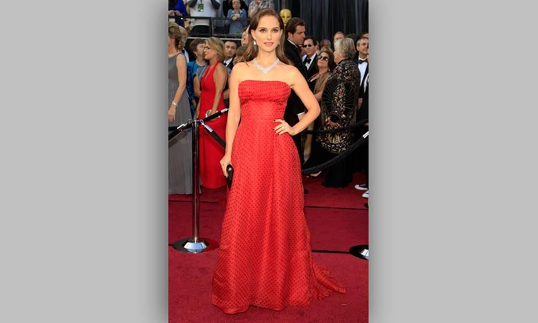 A atriz Natalie Portman também esteve presente na grande festa do cinema Foto: Divulgação