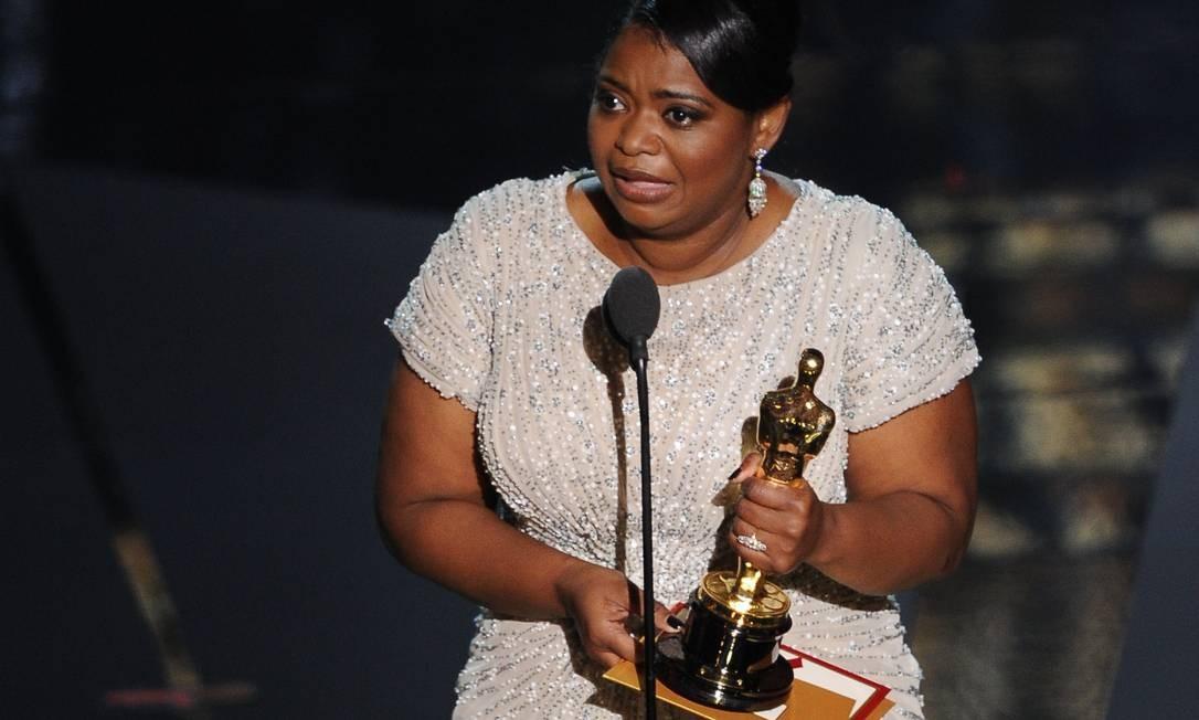 Octavia Spencer levou o prêmio de melhor atriz coadjuvante por sua atuação no drama 'Histórias cruzadas' Foto: Reuters/Divulgação