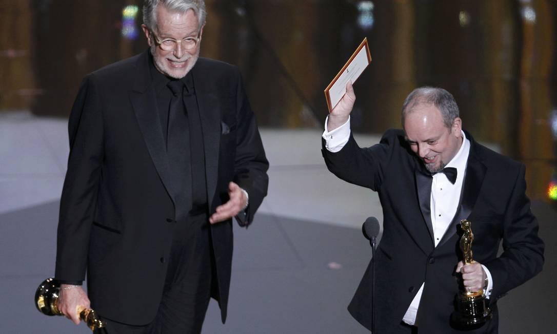 Por melhor maquiagem no filme 'A dama de ferro, Mark Coulier e J. Roy Helland foram premiados Foto: Reuters/Divulgação