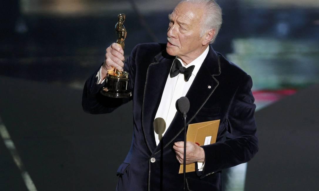 O veterano Christopher Plummer arrebatou o Oscar de melhor ator coadjuvante por sua participação no filme 'Toda forma de amor' Foto: Reuters/Divulgação