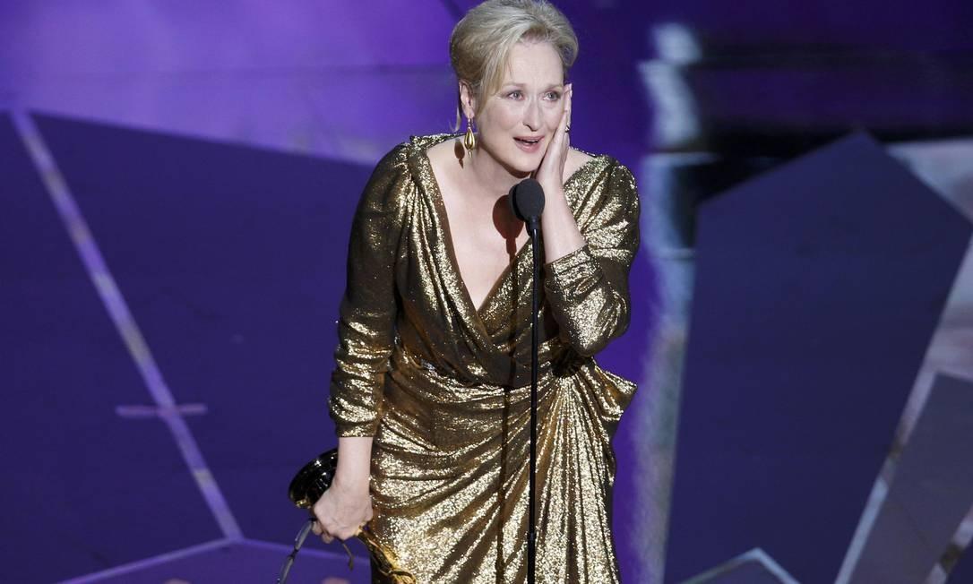 A diva da noite foi Meryl Streep eleita pela academia a melhor atriz por sua interpretação em 'A dama de ferro' Foto: Reuters/Divulgação