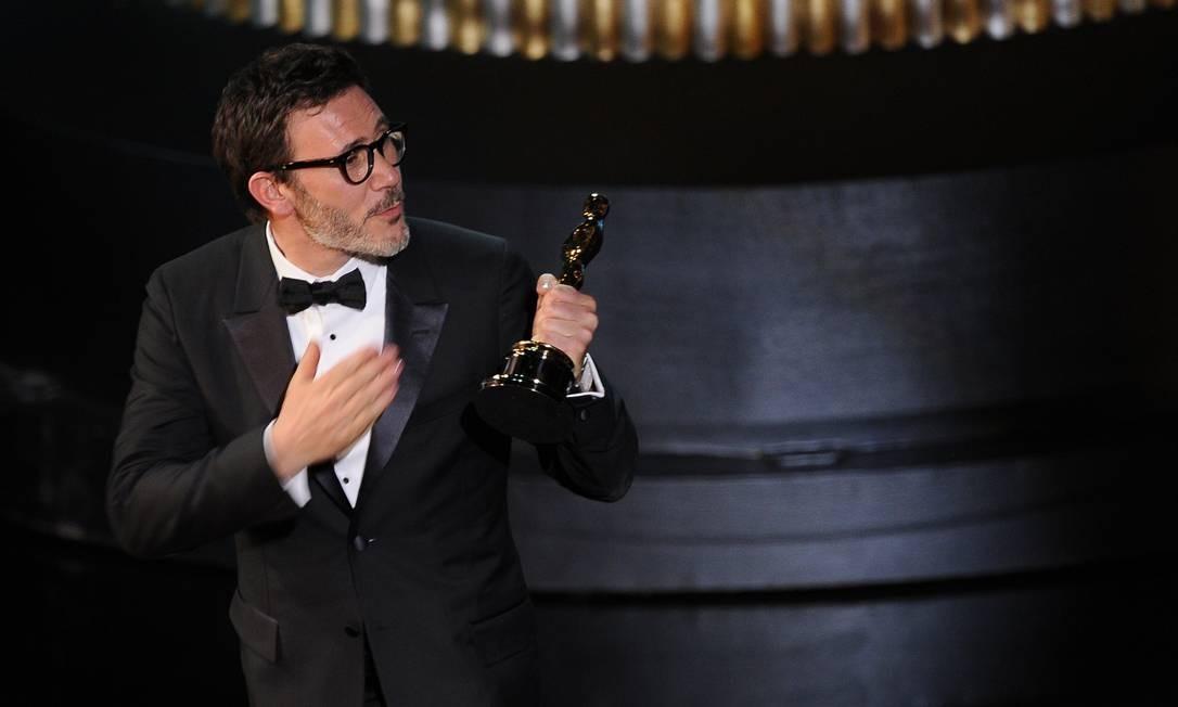 E a noite foi definitivamente de Michel Hazanavicius....'O artista' ganhou o Oscar de melhor filme Foto: AFP/Divulgação