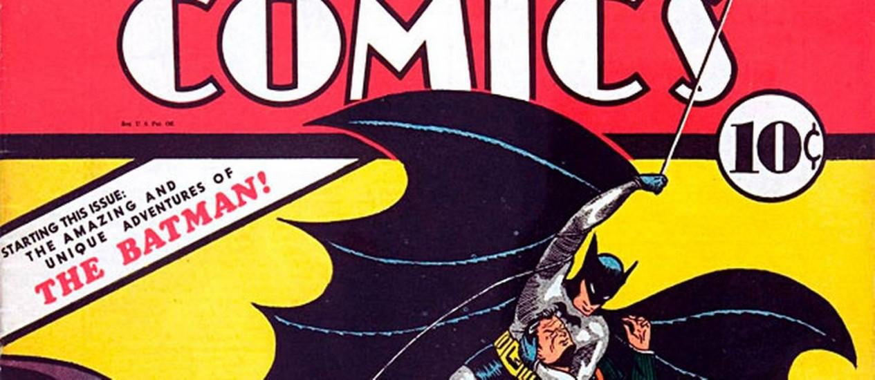 Exemplar da 'Detective Comics' com a estreia de Batman Foto: Reuters