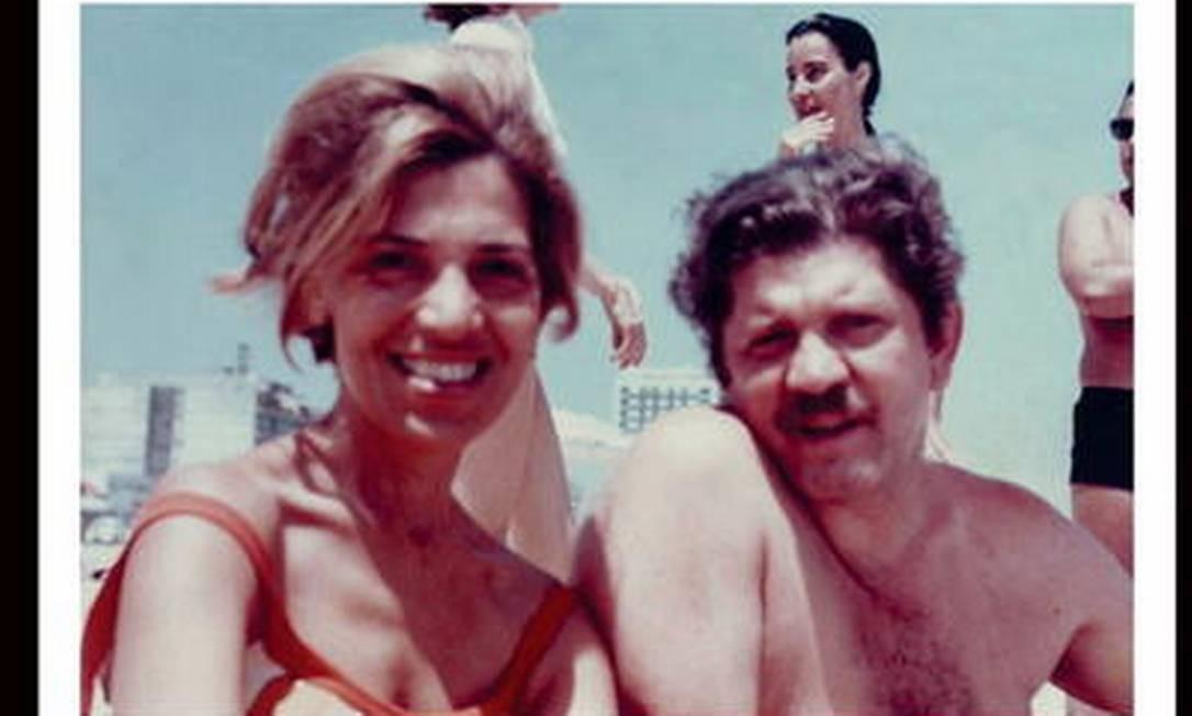 Rubens Paiva com a mulher, Eunice, que esteve presa com ele durante 12 dias Foto: Álbum de família