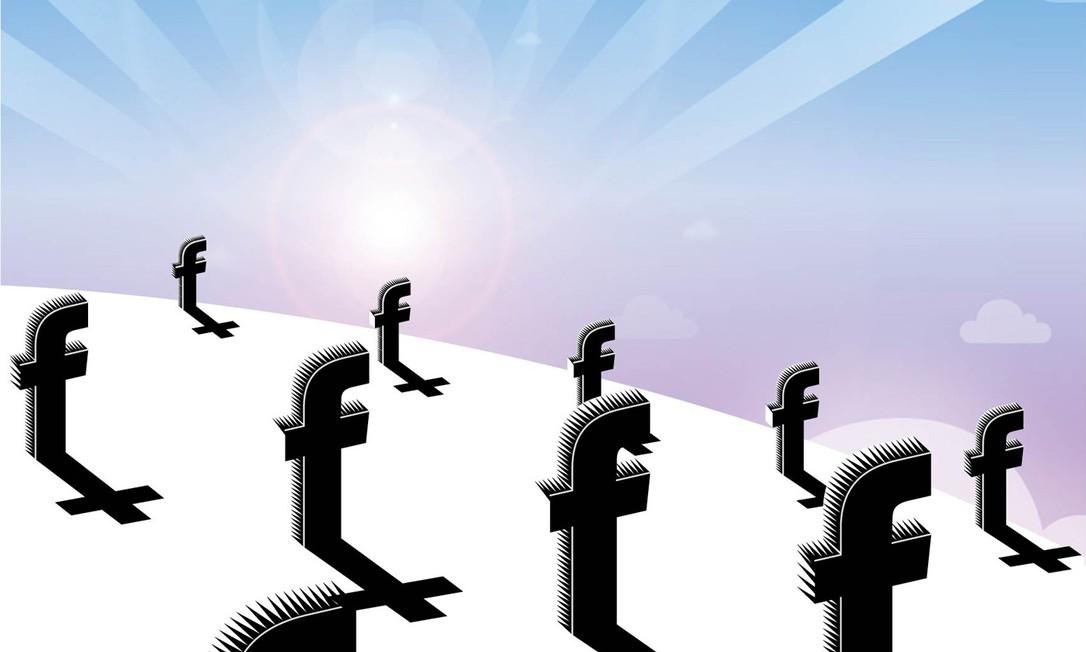 Perfis de mortos que continuam ativos em redes sociais transformam-se num problema Foto: Ilustração O GLOBO