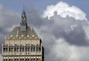 Nuvens carregadas cobrem a sede da Kodak Foto: Terceiro / Agência O Globo