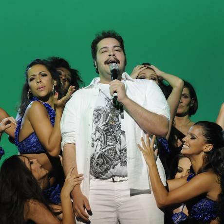 Tiago Abravanel se apresenta em festa para a divulgação da nova programação da TV Globo Foto: Bob Paulino / TV Globo