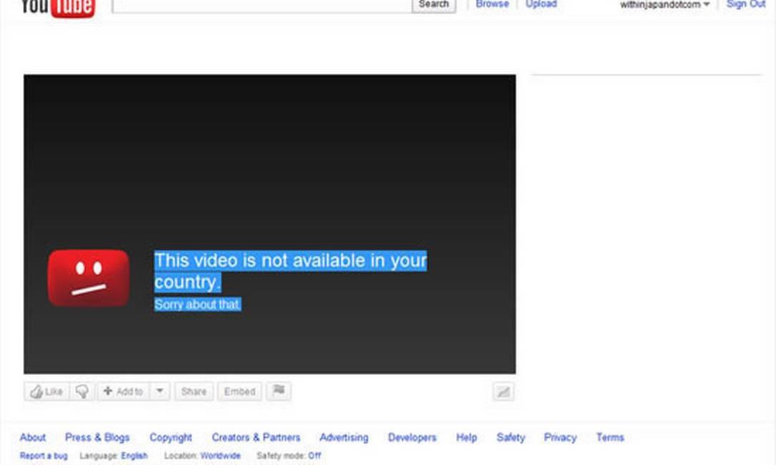 YouTube Foto: Reprodução