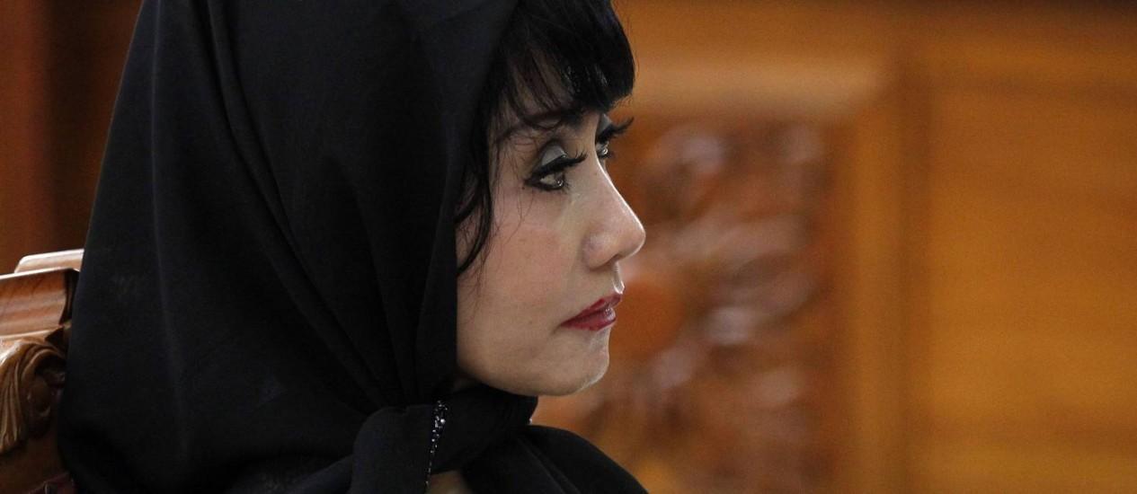 Inong Malinda Dee escuta sua senteça em audiência na Justiça de Jacarta nesta quarta-feira Foto: SUPRI / REUTERS