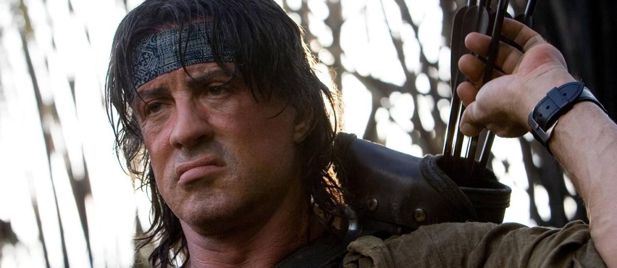 Sylvester Stallone em 'Rambo IV' Foto: Divulgação