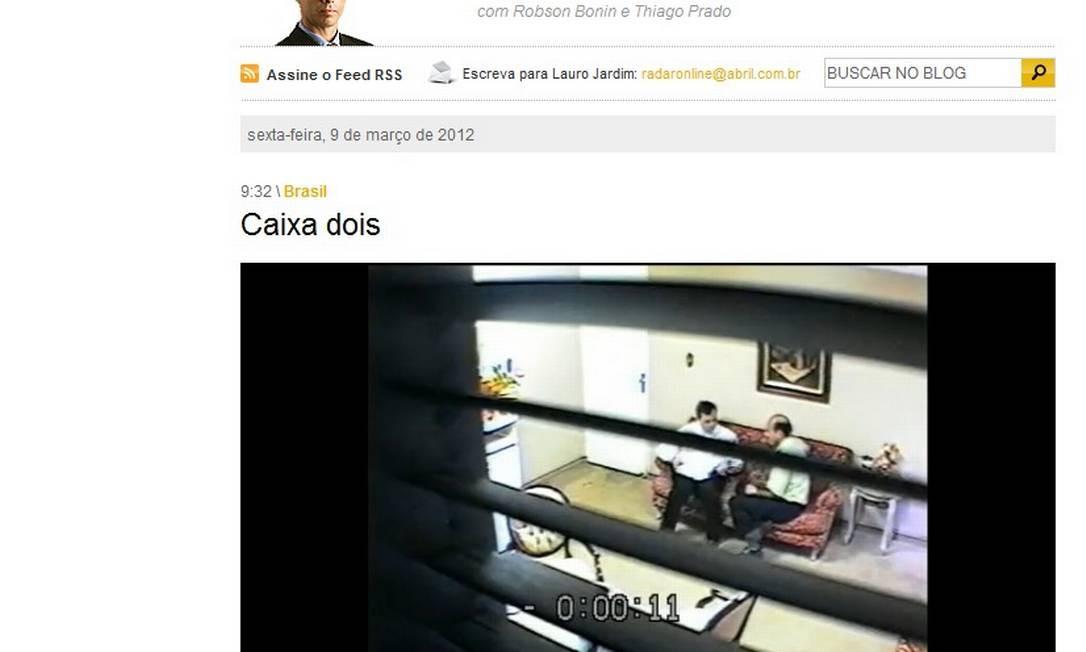 Vídeo mostra negociação de suposto caixa 2 Foto: Veja / Reprodução