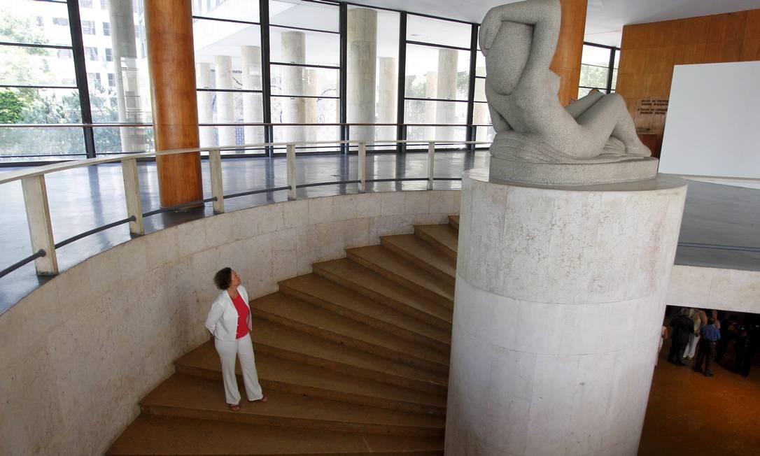 Desde janeiro, o Iphan assumiu o condomínio do prédio, que é ocupado por instituições e departamentos vinculados ao Ministério da Cultura, como a Biblioteca Noronha Santos, a Funarte, a Livraria Mário de Andrade e a Sala Sidney Miller Foto: Custodio Coimbra / Agência O Globo