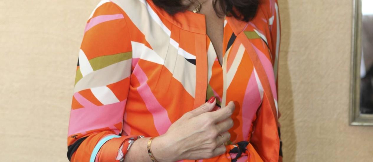 Daniella Helayel, estilista da marca Issa, responsável por desenhar o vestido de noivado de Kate Middleton Foto: Agência O Globo