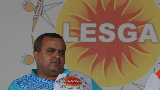 Reginaldo Gomes, presidente da Lesga: ele pode deixar o cargo Foto: Cléber Júnior / Extra