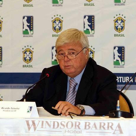 Ricardo Teixeira comandou a CBF por 23 anos Foto: Arquivo
