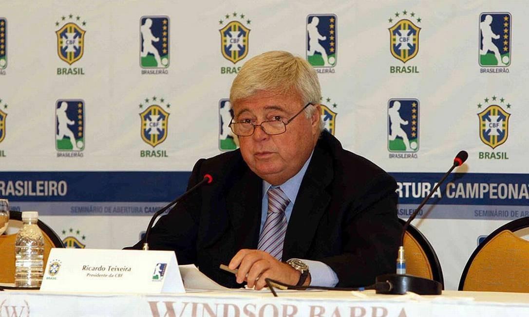 Ricardo Teixeira deixa o comando da CBF após 23 anos e dois meses Foto: Arquivo
