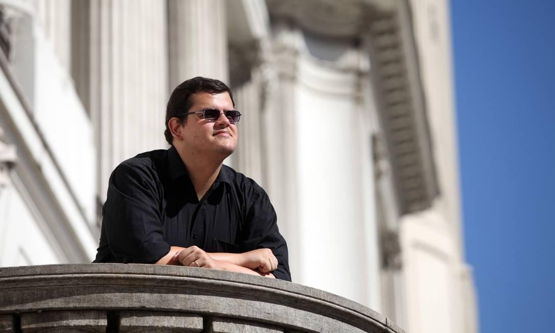Advogado Bernardo Santoro, um dos fundadores do grupo Libertários Foto: O Globo / Ana Branco
