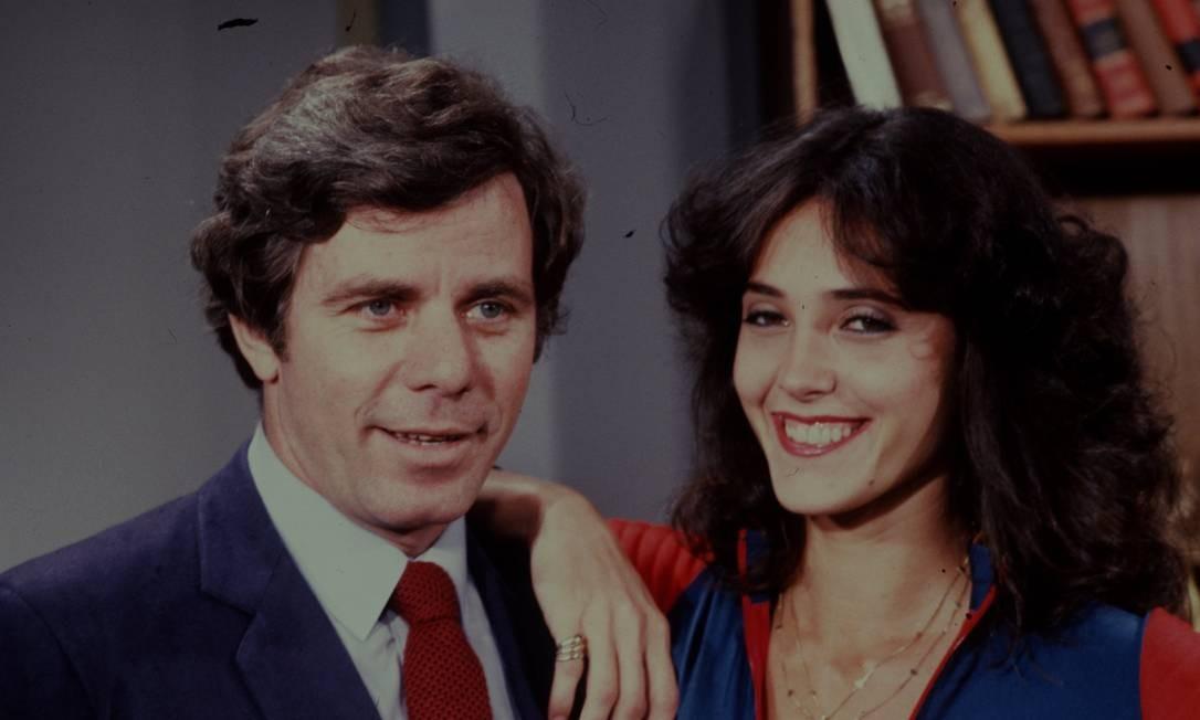 Com Reginaldo Faria, em 'Elas por elas, de 1982 Foto: Arquivo