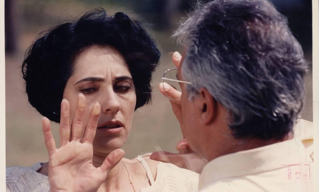 A atriz em cena como Diná, um de seus grandes sucessos, na novela 'A viagem'