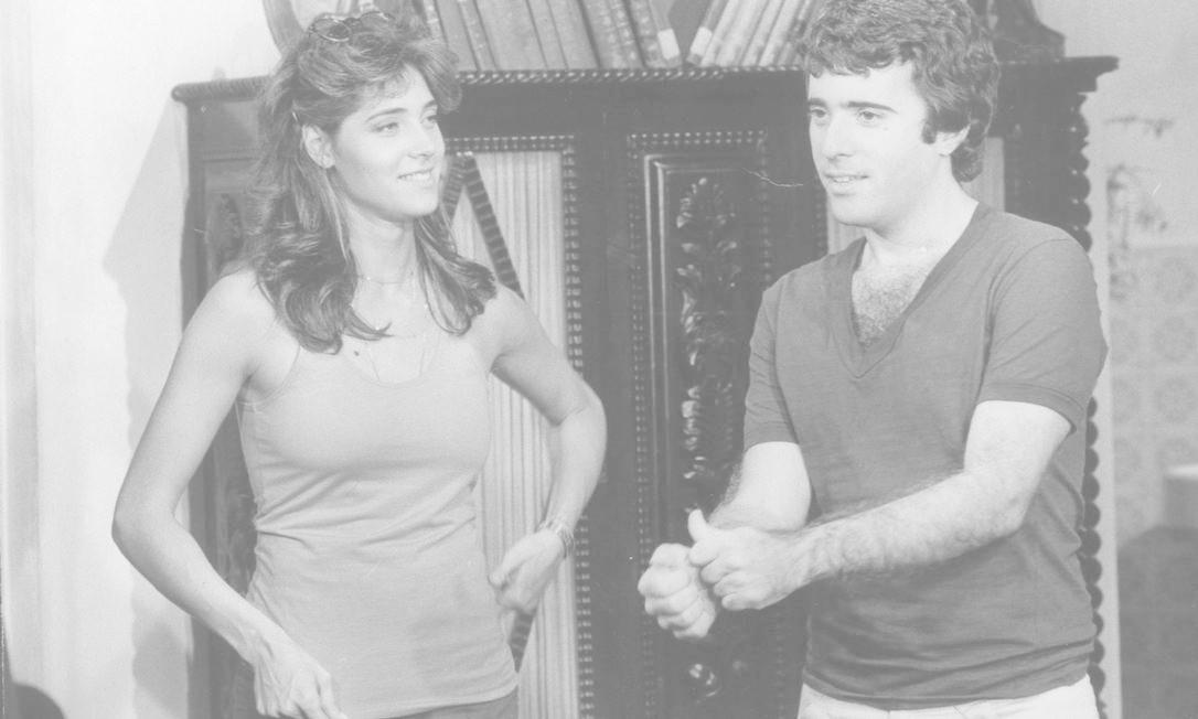 Em cena com Tony Ramos na novela 'Baila comigo', de 1981 Foto: Arquivo