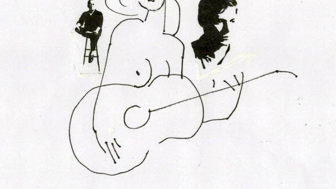 Cesar G. Villela, artista que deu identidade visual à bossa nova, criou esta ilustração para O GLOBO, para festejar os 50 anos da 'Garota de Ipanema' Foto: Cesar G. Villela