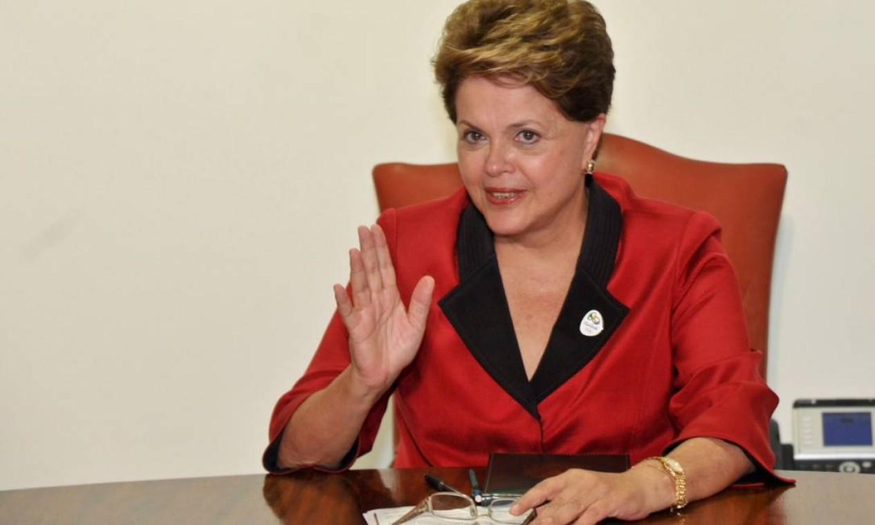 Presidente Dilma Rousseff: Presidente do segmento de cúpula da Rio+20. Em 2009, como ministra da Casa Civil, Dilma foi chefe da delegação brasileira em Copenhague, durante a Conferência da ONU sobre Mudanças Climáticas. (Foto de 08/03/2012) Foto: Fabio Rodrigues Pozzebom / Agência O Globo