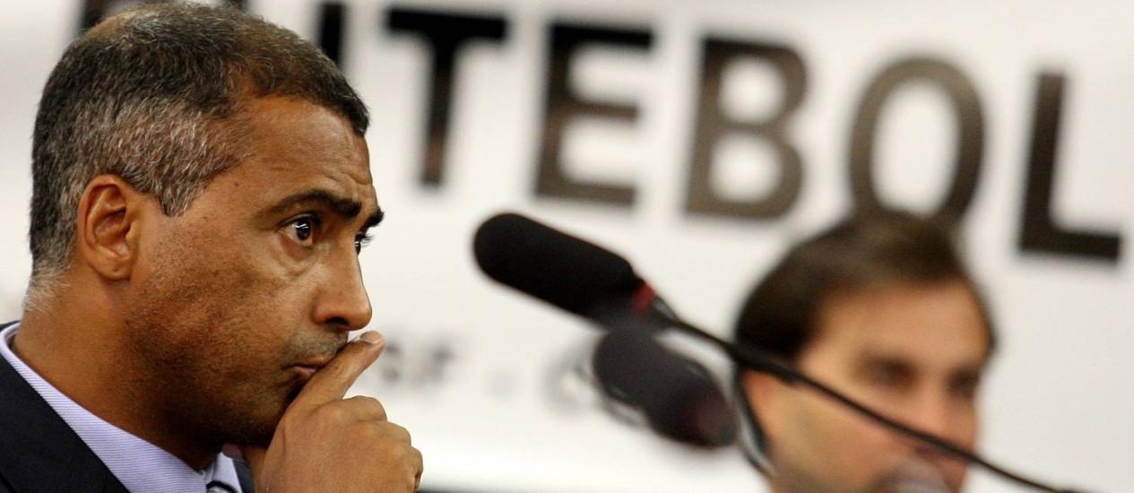 Romário criticou a organização do Mundial do Brasil Foto: Ailton de Freitas / O Globo