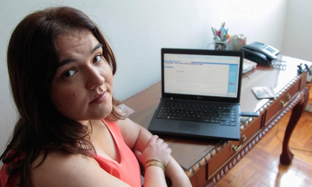 Tatiana Maia sofreu com uma queda de um produto na cabeça Foto: Pedro Kirilos / Agência O Globo