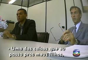 David Gomes da Silva, da Toesa, explica que ensina aos filhos o código de conduta da propina Foto: Reprodução TV Globo
