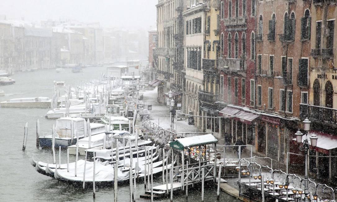 A cidade italiana de Veneza volta a afundar, revelam novas medições Foto: Reuters