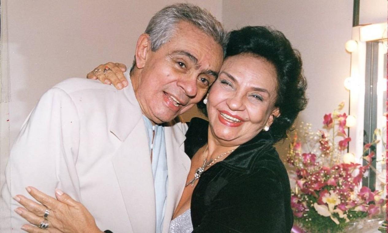 O humorista Chico Anysio e a sua irmã, a atriz Lupe Gigliotti Foto: Divulgação