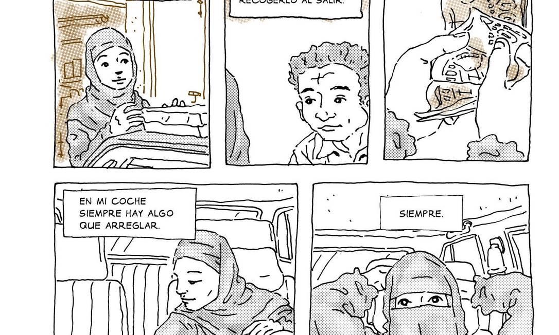 'El coche de Intisar' conta a história de uma jovem iemenita que experimenta no volante a sua liberdade Foto: Reprodução