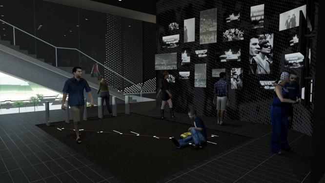 Estande, que será aberto ao público no dia 30, vai detalhar o conteúdo do novo prédio do MIS Foto: Divulgação