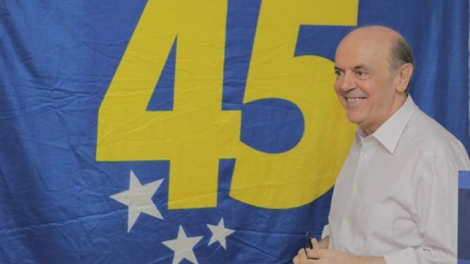 Pré-candidato José Serra é o favorito da prévia do PSDB em São Paulo Foto: O Globo / Eliária Andrade