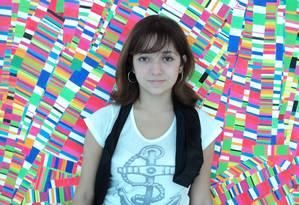 Laura Tardin, de 20 anos, no museu MALBA, em Buenos Aires Foto: Arquivo pessoal
