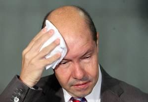 O senador Demóstenes Torres (DEM-GO) é acusado de envolvimento com o contraventor Carlinhos Cachoeira Foto: Ailton de Freitas / Arquivo O Globo