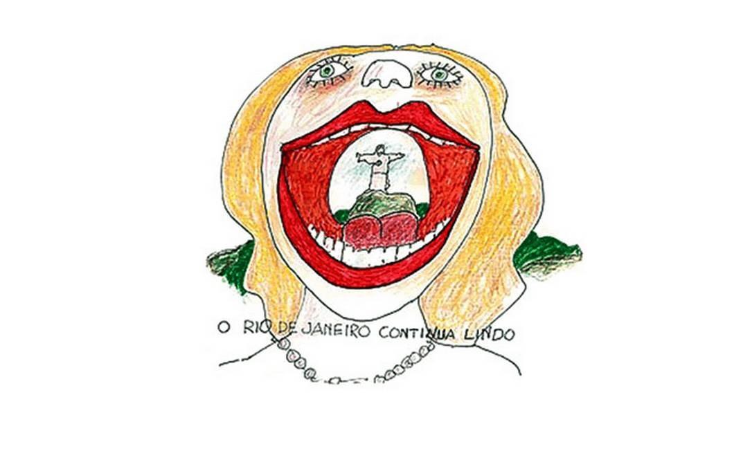 Charge de Millôr Fernandes sobre o Rio de Janeiro, cidade onde viveu Reprodução / Site oficial